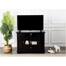 Wood TV Stand Media Console, 42-Inch, Espresso Black
