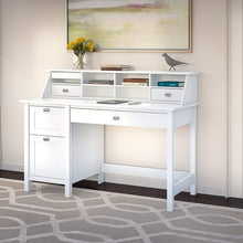Pure White Desk with Drawers and Organizer