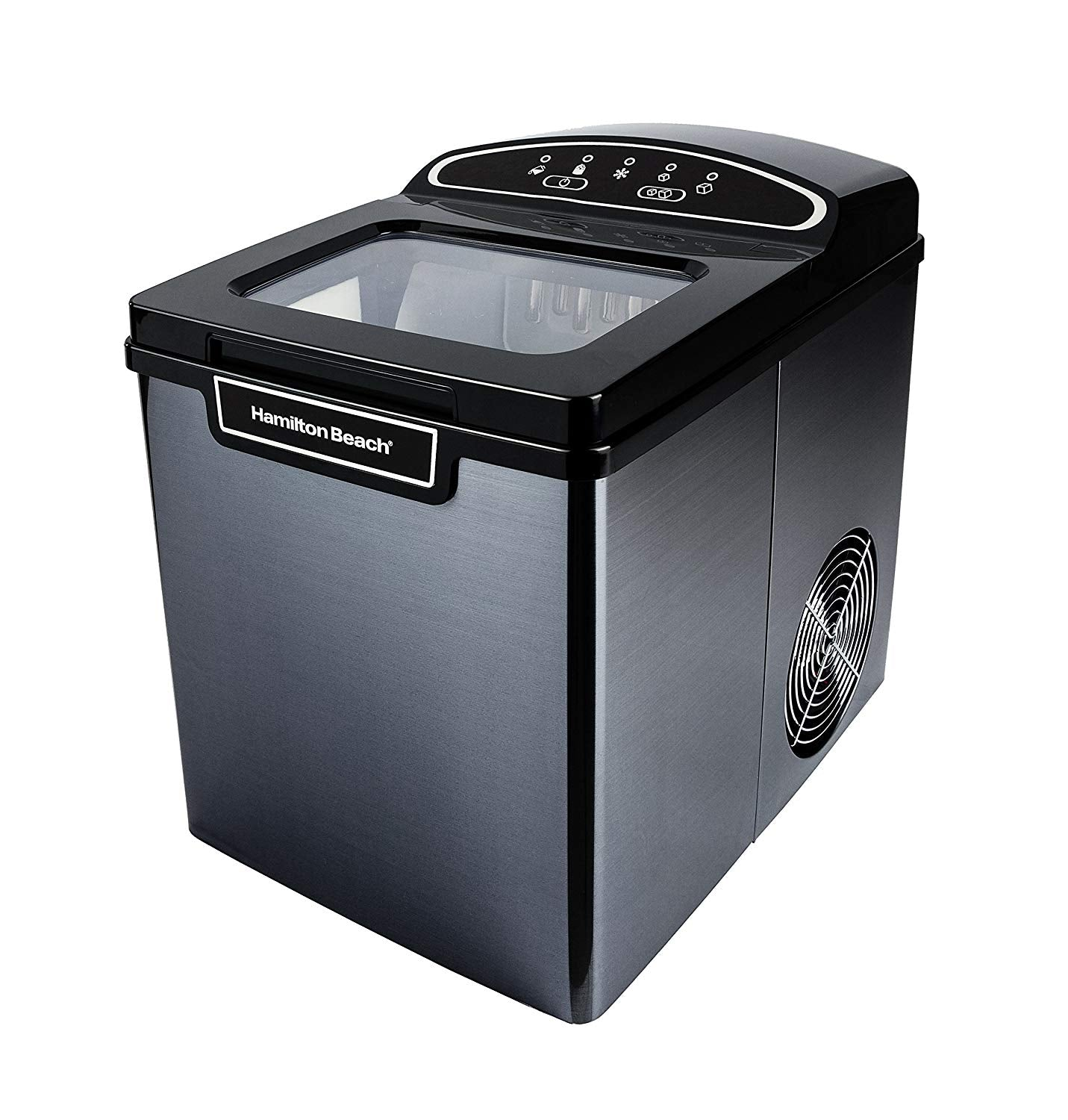 PIM-2-3A Portable Ice Maker, 26 lb. Capacity, Black Stainless Steel