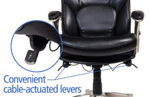 Works Ergonomic Executive Office Chair with Back in Motion Technology, Black Bonded Leather