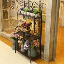 Design Metal Foldable 3-Tier Plant & Home Décor Display Stand Rack/Book Shelf