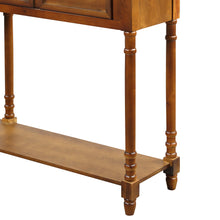 American Homes Collection Console Table with 4 Drawers Pine Wood