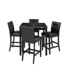 Camande Designs 5 Piece Dining Room Set with Laminated Faux Marble Top