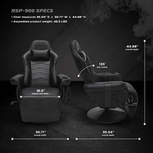 900 Racing Style Gaming Recliner, Reclining Gaming Chair, in Black (RSP-900-BLK)
