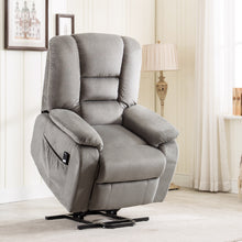 Heavy Duty and Safety Power Lift and Recliner Soft Fabric Upholstery Recliner for Living Room