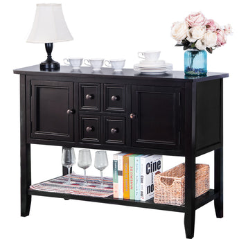 CAMANDE Designs Cambridge Series Buffet Sideboard Console Table with Bottom Shelf