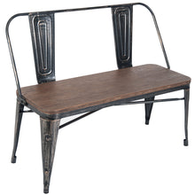 CAMANDE Dining Table Bench, Distressed Black