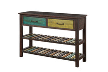 Camande Console Table Sofa Table for Entryway Hallway Bathroom Living Room with Drawers and 2 Tiers Shelves