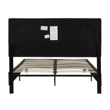 Camande Linen Upholstered Platform Bed Frame/Mattress Foundation, Wood Slat Support, Full