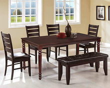 CAMANDE Wood Dining Table Rectangular Dining Room Table (Espresso)