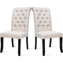 Camande Tufted Arm Dining Accent Chair, Set of 2 (Beige)