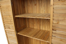 Camande Wooden Garden Shed Wooden Lockers with Fir Wood (Natural Wood Color)