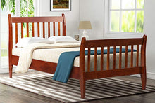 CAMANDE Wood Platform Bed Frame Mattress Foundation with Wood Slat Support, Twin