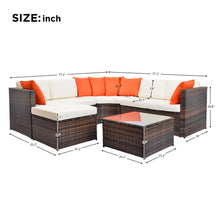 Camande 5 Piece Patio Furniture Set Outdoor Sectional Conversation Set with Soft Cushions