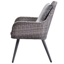 Camande Outdoor Wicker Dining Chair PE Rattan Accent Chair Patio Garden Furniture