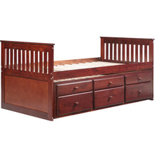 Camande Captain's Platform Storage Bed with Trundle Bed and Drawers, Twin