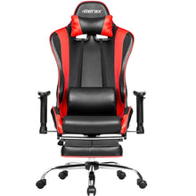 CAMANDE Ergonomic Racing Gaming Chair with Adjustable Armrests PU Leather Chair with Footrest (Red )