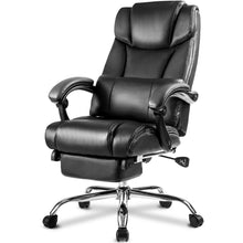 CAMANDE Technical Leather Big & Tall Executive Recliner Napping - Black