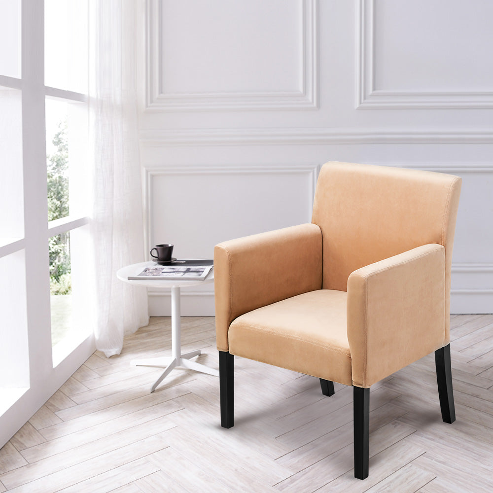 CAMANDE Accent Chair Stylish Arm Chair in Soft Fabric Living Room Furniture