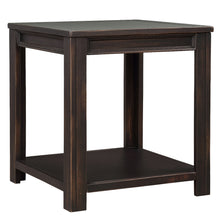 Easy Assembly Hillside Rustic Natural Square-Frame Side Table,Black