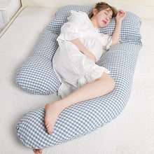 Super Soft Cotton Fabric Pregnancy Pillow Simple Style U Shape Maternal Body Pillow High Quality Side Sleepers Waist Pillow
