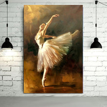 Hand Painted Modern Ballerina Dancer Oil Painting spanish dancer painting Art Wall Art For Living Room Home Decoration Pictures