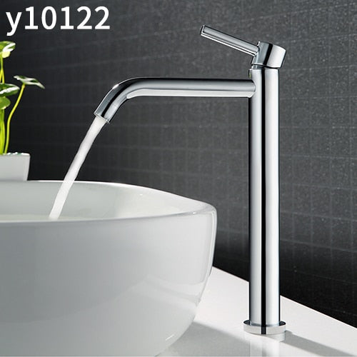 Frap high quality Tall bath sink faucet bathroom slim hot and cold basin water mixer tap bathroom single sink faucet Y10122/23