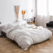 Luxury Egyptian Solid Color bed linen sheets long staple cotton Bedding Set duvet covers brief modern style bedclothes