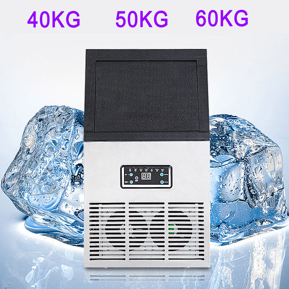Ice making machine Automatic Cube Ice Maker Large supply of 22*22*22 mm Size Ice Makers for Commercial and Household 40/50/60kg