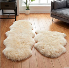 Genuine Sheepskin Pelt Handmade Beige White Premium Shag Rug ,4 colors shaggy sheep skin fur carpet for home decoration