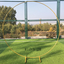 Wedding Arch Background Wrought Iron Shelf  Decorative Props DIY Round Party Background Shelf Flower with Frame