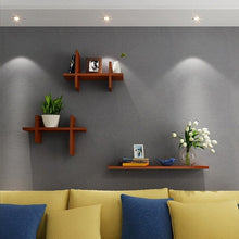 3 PCS Punch-free creative wall shelf wordboard shelf TV background decorative shelf wall shelf wall hanging LM3121541