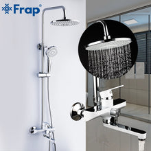 Frap Bathroom Shower Faucets Set Rainfall Shower Head Taps Tub Spout Wall Mounted Faucet Bath Shower Mixer grifo ducha F2441