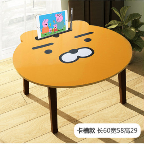 Portable Folding Cartoon Laptop Table Sofa Bed Table Kids Adults Office Laptop Stand Desk Bed Tables For Computer Notebook Books
