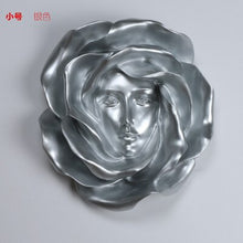 Modern home wall decoration fashion TV background  3D rose hanging creative large pendant