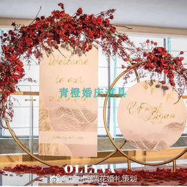 Wedding props large iron ring arch background frame
