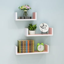 Wall shelf living room wall hanging wall partitions bedroom multi-layer bookshelf free punching simple modern LM01211618