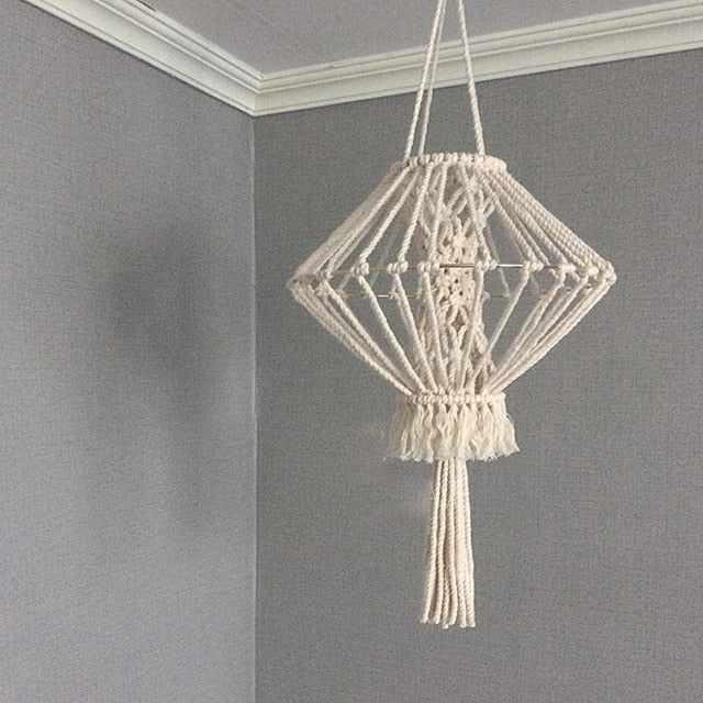 Bohemian Decor Macrame Tapestry Wall Hanging Hand-woven Chandelier Lampshade House Model Room Coffee Restaurant Decoration