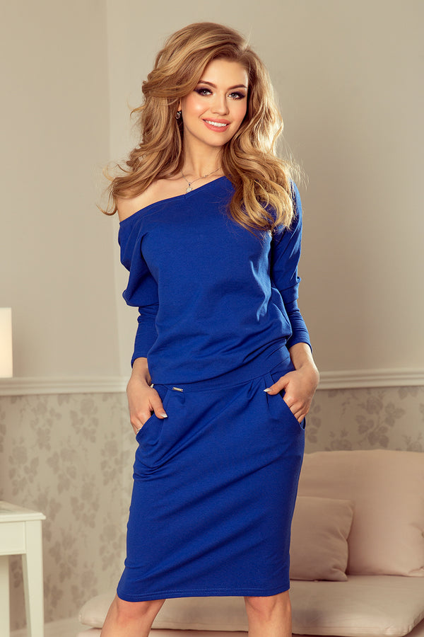 Numoco 189-2 Sports dress with neckline at the back - royal blue