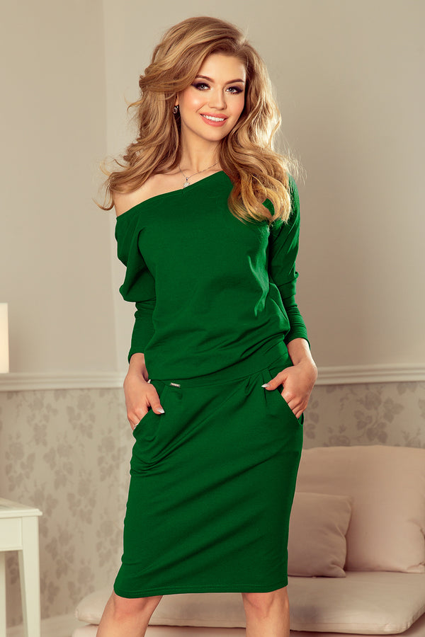 Numoco 189-3 Sports dress with neckline at the back - dark green