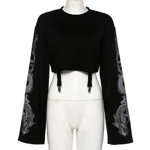 Blusa Cropped Dragon