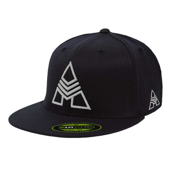 Iron Army Fitted Flat Brim Hat - Gray