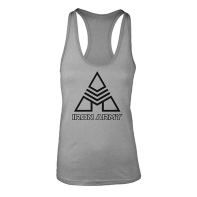 Women's Iron Army Racerback Tank - Heather Gray