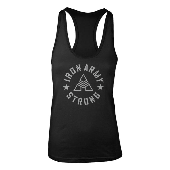 Iron Army Strong Women's Racerback Tank - Black