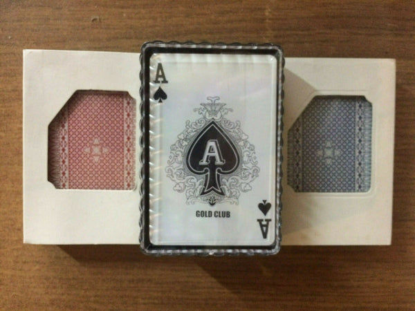 Gold Club Plastic Coated Playing Cards in Plastic Case