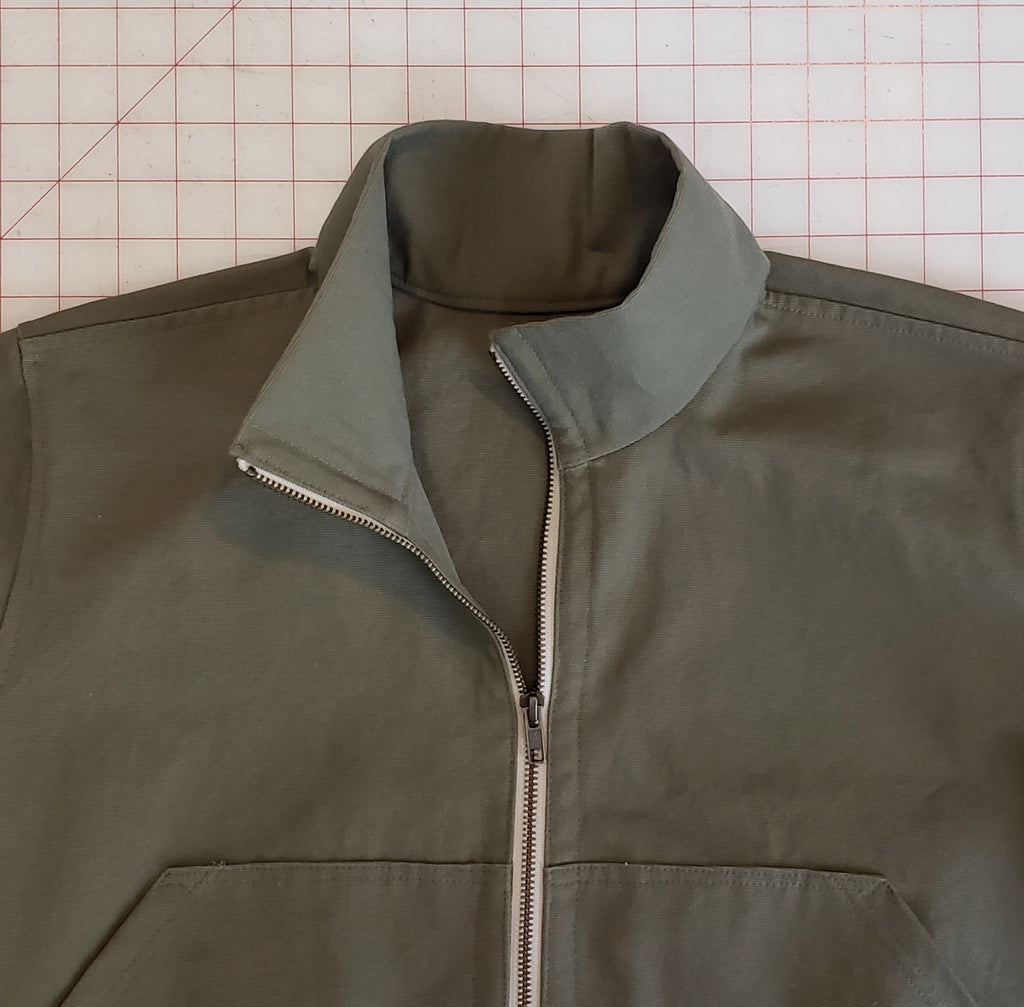 Cozi Jacket Sewalong, Part 3: Attach the collar and install the zipper (VERSION A ONLY)
