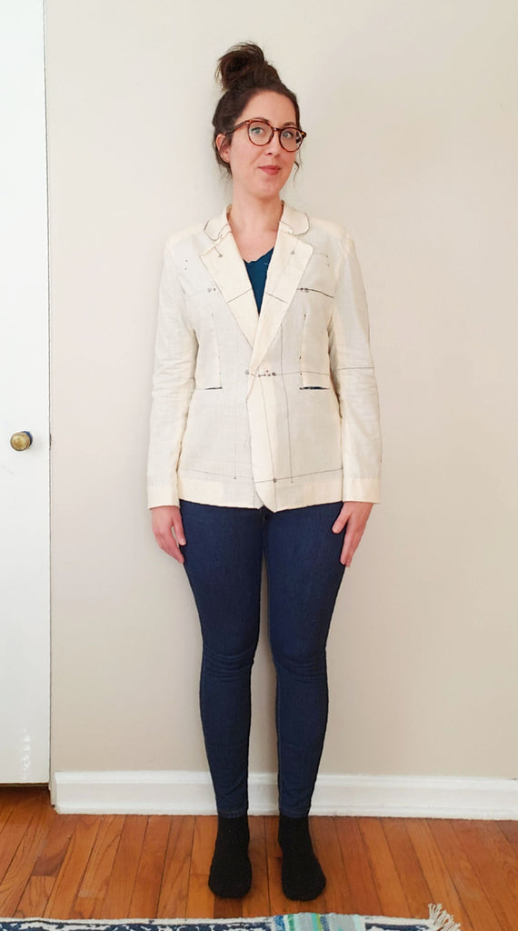 Making a Jasika Blazer, Part 2: Making a Muslin + Assessing My Fit