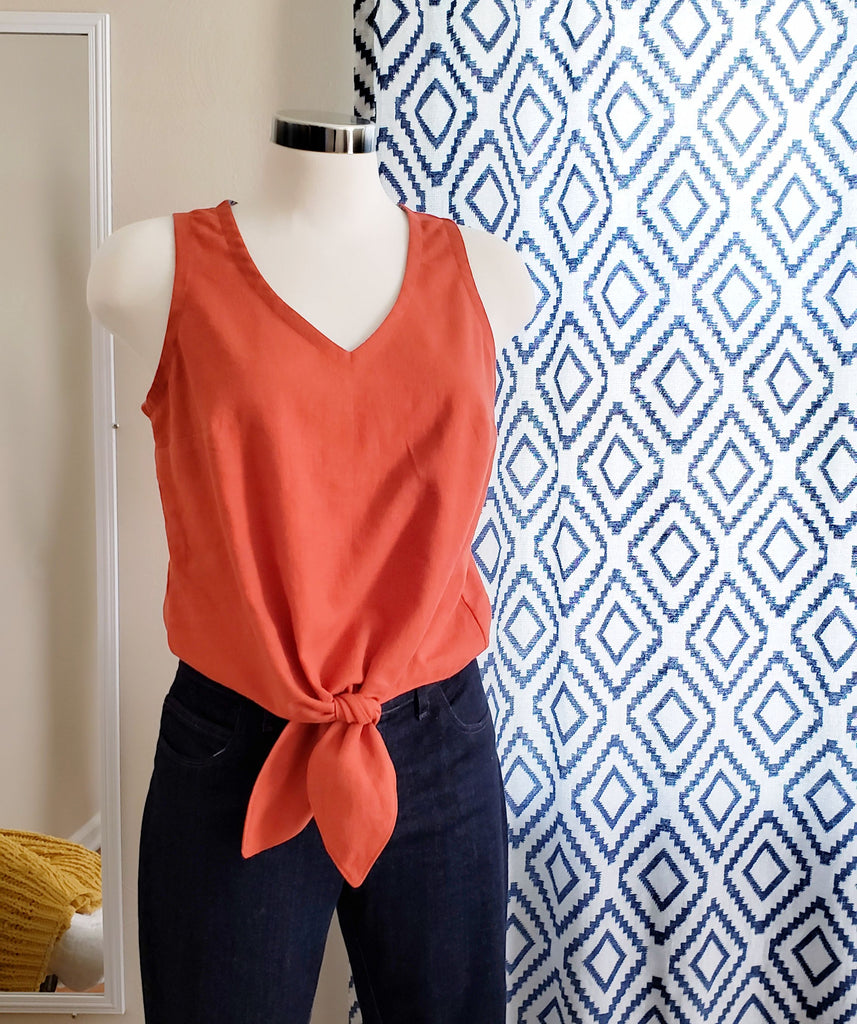 How to Make a Facing for the Hana Tank Tie Waist