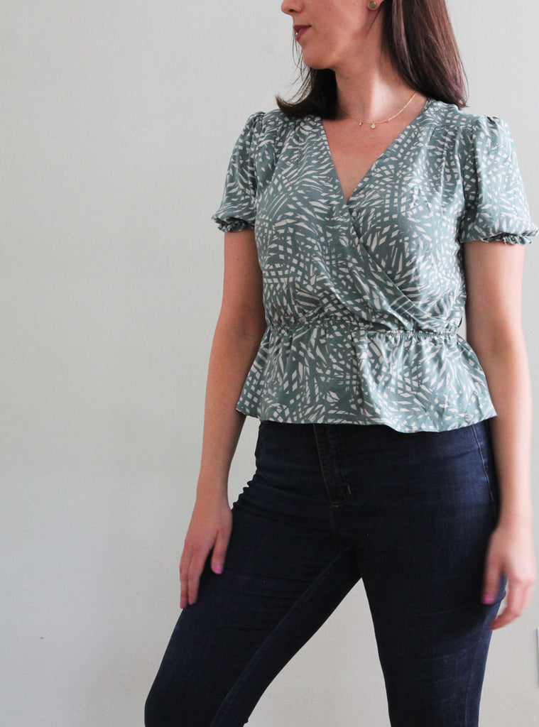 Pattern Hack: Romy (Faux) Wrap Top with Elastic Waist