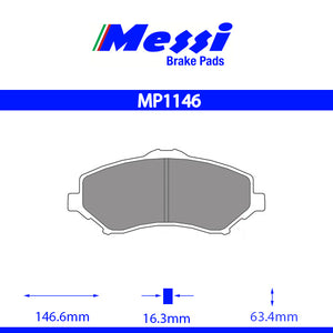 Messi Front BrakePad-chrysler 2007- 2.8 CRD - MP1146